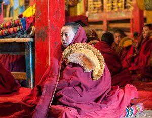 молодой монах в монастыре, туры в Тибет