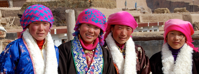 Village women in Amdo