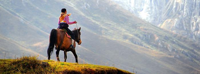 Tibetan Horsewoman