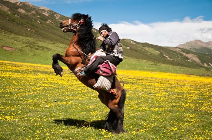 Кора вокруг горы Амнье Мачен в Восточном Тибете
