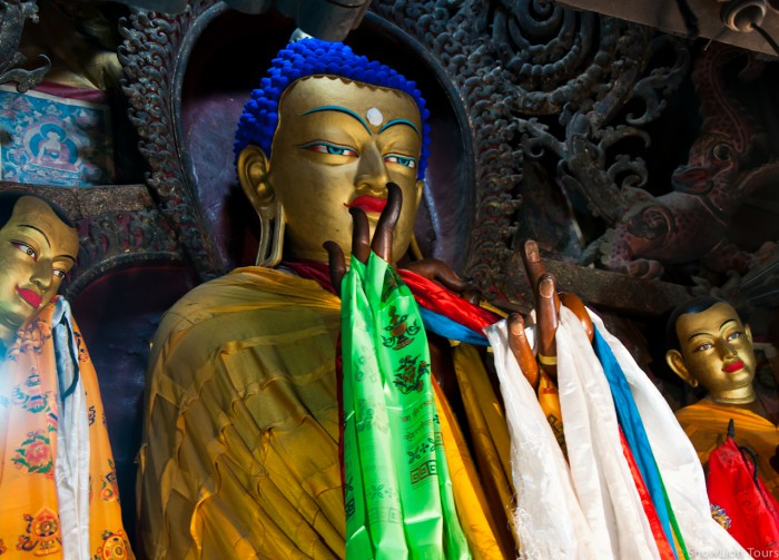 Будда в монастыре Пелкор Чоде в Гьянтце