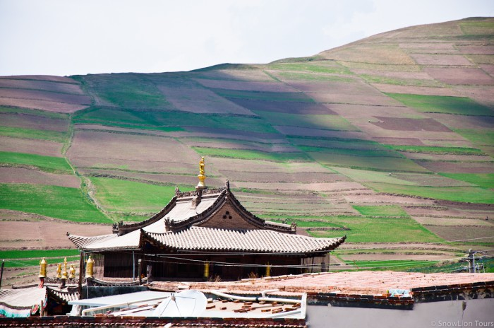 крыша одного из храмов монастыря Гонлунг