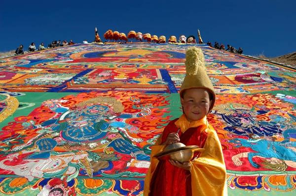 Щотон - фестиваль тибетского йогурта