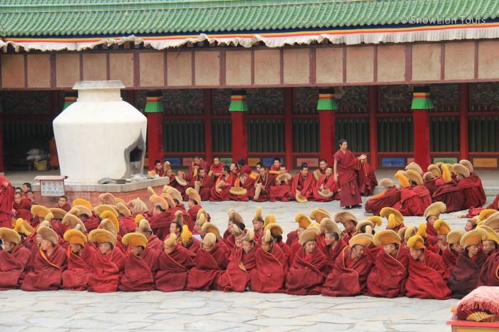 монахи монастыря Лабранг