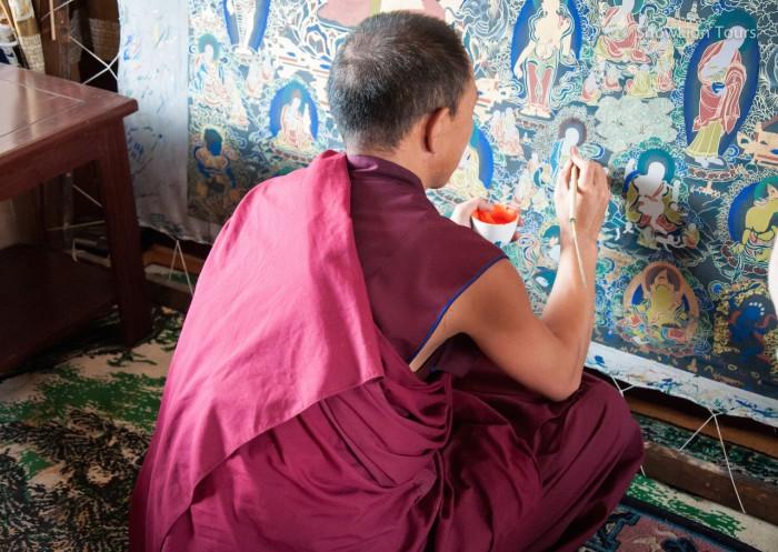 Тибетский мастер тханкописи, Ребконг , Восточный Тибет