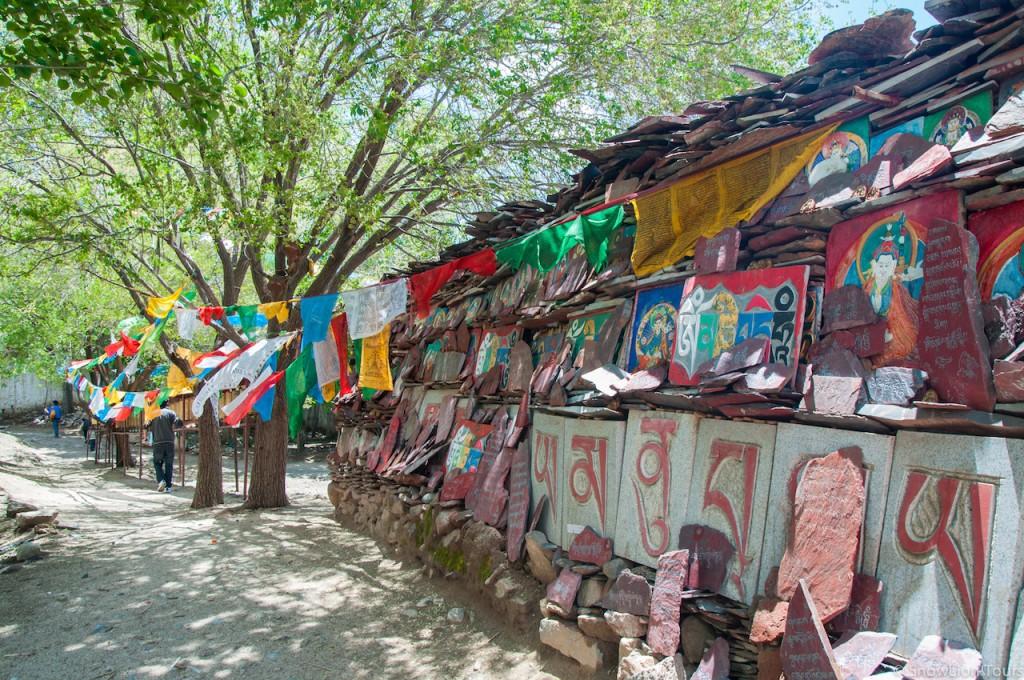 выгравированные мантры близ монастыря Нечунг