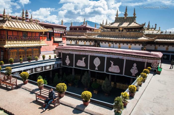 наш гид Донжуб на крыше Джокханга